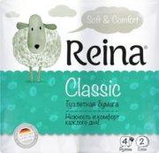 Купить Reina туалетная бумага Classic белая двухслойная 4шт 156 листов