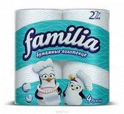 Купить Famillia полотенца бумажные Белые двухслойные 4шт