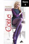 Купить Conte Колготки Fantasy Ajour fashion Nero (Черный) размер 4-L