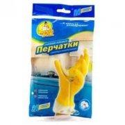 Купить Фрекен Бок перчатки хозяйственные латексные универсальные с внутренним хлопковым напылением рамер M Средний