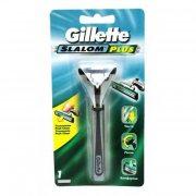 Купить Gillette станок для бритья мужской многоразовый Slalom plus с 1 сменной кассетой