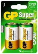 Купить GP Super Alkaline батарейка алкалиновая 13А R20 типоразмера D 1,5v, цена за 1шт