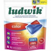 Купить Ludwik Color Гелевые капсулы для стирки цветных тканей 32шт