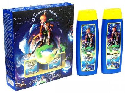 Маленькая планета подарочный набор детский (шампунь+гель для душа)