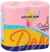 Купить Мягкий знак туалетная бумага Deluxe двухслойная 4шт Розовая