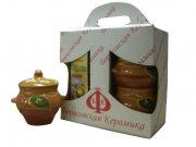 Купить Борисовская керамика Набор подарочный №5 в коробке 4пр (горшок с крышкой 500мл)