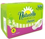 Купить Naturella Classic прокладки Camomile Maxi Single 8шт с крылышками 5 капель