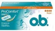 Купить O.B. тампоны ProComfort Супер 16шт 4 капли