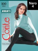 Купить Conte Колготки Avanti Microfibra 100 den Nero (Черный) размер 4-L