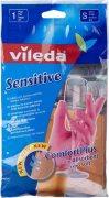 Купить Vileda перчатки латексные для деликатных работ 1 пара размер S