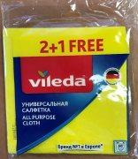Купить Vileda салфетка универсальная вискозная 2+1шт