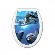 Купить Европласт Сиденье для Унитаза жесткое Океан Дельфины