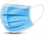 Купить Маска для лица медицинская одноразовая 3-х слойная голубая, 50шт