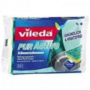 Купить Vileda губка Pur Active для мытья деликатных поверхностей электрических, газовых пилт и СВЧ-печей 2шт