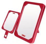 Купить Зеркало 9363 SPR /красное/ настольное квадратное одностороннее 10,9х15,5 см